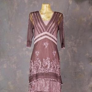 Nataya Vintage Inspired Mauve Titanic Dress-3 Size